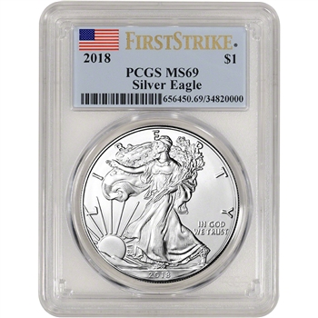 2018 American Silver Eagle - PCGS MS69 - First Strike