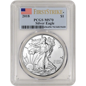 2018 American Silver Eagle - PCGS MS70 - First Strike