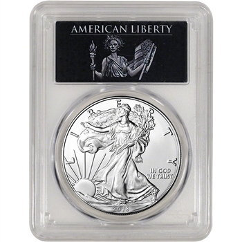 2018 American Silver Eagle - PCGS MS70 - First Strike - American Liberty Label