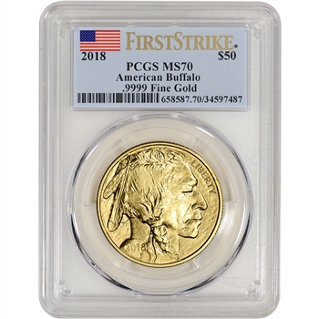 2018 American Gold Buffalo (1 oz) $50 - PCGS MS70 First Strike
