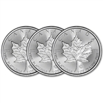 2018 Canada Platinum Maple Leaf 1 oz $50 - BU - Three 3 Coins