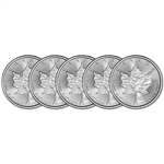 2018 Canada Platinum Maple Leaf 1 oz $50 - BU - Five 5 Coins