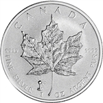 2018 Canada Silver Maple Leaf Reverse Proof - Light Bulb Privy - 1 oz - $5