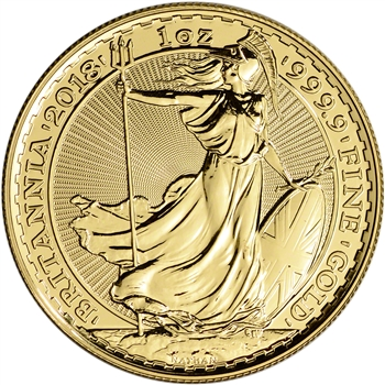 2018 Great Britain Gold Britannia ?100 - 1 oz - BU
