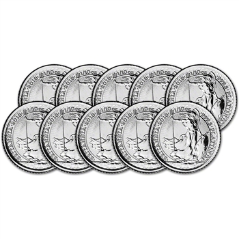 2018 Great Britain Platinum Britannia ?10 - 1/10 oz - BU - Ten 10 Coins