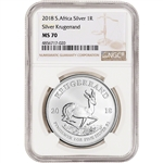 2018 South Africa Silver Krugerrand 1 oz 1 Rand - NGC MS70