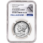 2018-W American Palladium Eagle Proof 1 oz $25 - NGC PF70 UCAM Early Releases