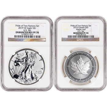 2019 Pride of Two Nations Two Coin Set NGC PF70