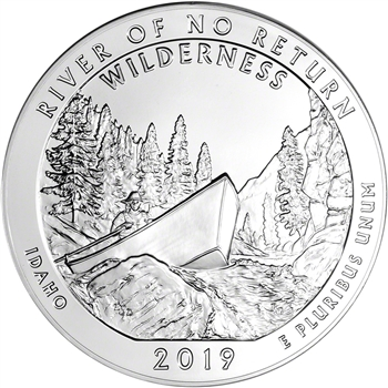 2019 ATB Frank Church River Silver 5 oz 25C - BU