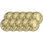 2019 American Gold Buffalo 1 oz $50 - BU - Ten 10 Coins