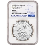 2019 South Africa Silver Krugerrand 1 oz 1 Rand - NGC MS70 Early Releases