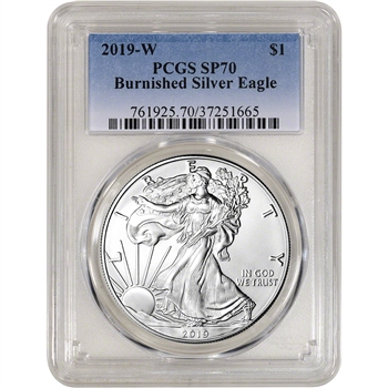 2019-W American Silver Eagle Burnished - PCGS SP70