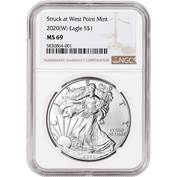 2020-(W) American Silver Eagle - NGC MS69