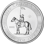 2020 Canada Silver Royal Canadian Mounted Police 2 oz $10 BU