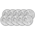 2020 Canada Silver Maple Leaf - 1 oz - $5 - BU - Ten 10 Coins