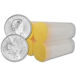 2020 Canada Silver Maple Leaf - 1 oz - $5 - 4 Rolls - 100 Coins in 4 Mint Tubes