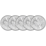 2020 Canada Silver Maple Leaf - 1 oz - $5 - BU - Five 5 Coins