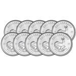 2020 South Africa Silver Krugerrand 1 oz 1 Rand - BU Ten 10 Coins