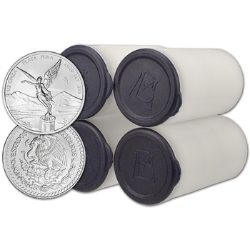 2020 Mexico Silver Libertad (1/2 oz) 1/2 Onza - 4 Rolls - 100 Coins in 4 Mint Tubes