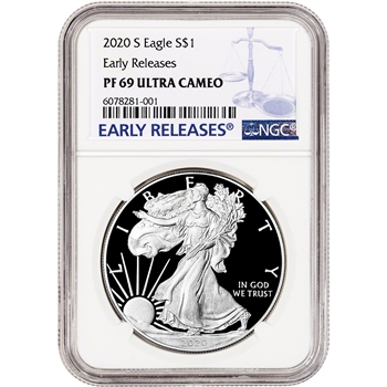 2020 S American Silver Eagle Proof - NGC PF69 UCAM Early Releases
