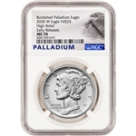 2020 W American Palladium Eagle Burnished 1 oz $25 - NGC MS70 Early Releases