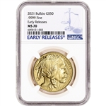 2021 American Gold Buffalo 1 oz $50 - NGC MS70 Early Releases