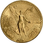 1922 Mexico Gold 50 Pesos - BU - 1.2056 oz.