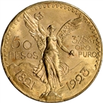1923 Mexico Gold 50 Pesos - BU - 1.2056 oz.