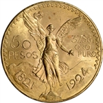1924 Mexico Gold 50 Pesos - BU - 1.2056 oz.