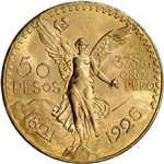 1925 Mexico Gold 50 Pesos - BU - 1.2056 oz.