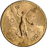 1926 Mexico Gold 50 Pesos - BU - 1.2056 oz.