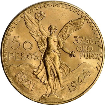 1944 Mexico Gold 50 Pesos - BU - 1.2056 oz.