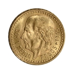 1945 Mexico Gold 2 1/2 Pesos (.0603 oz) - BU