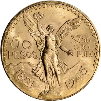 1945 Mexico Gold 50 Pesos - BU - 1.2056 oz.