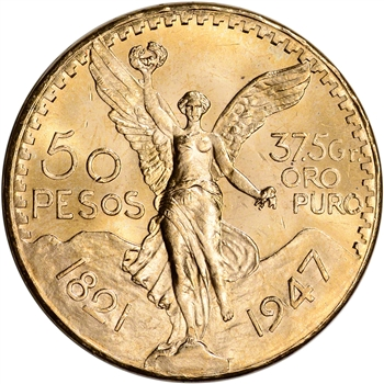 1947 Mexico Gold 50 Pesos - BU - 1.2056 oz.