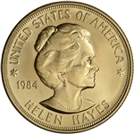 1984 US Gold (1 oz) American Commemorative Arts Medal - Helen Hayes - BU