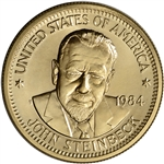 1984 US Gold (1/2 oz) American Commemorative Arts Medal - John Steinbeck - BU