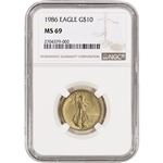 1986 American Gold Eagle (1/4 oz) $10 - NGC MS69