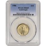 1986 American Gold Eagle (1/4 oz) $10 - PCGS MS69