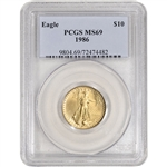 1986 American Gold Eagle 1/4 oz $10 - PCGS MS69
