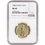 1986 American Gold Eagle (1/2 oz) $25 - NGC MS69