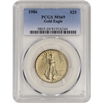 1986 American Gold Eagle (1/2 oz) $25 - PCGS MS69