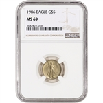 1986 American Gold Eagle (1/10 oz) $5 - NGC MS69