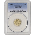 1986 American Gold Eagle (1/10 oz) $5 - PCGS MS69