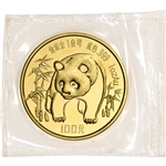 1986 China Gold Panda 1 oz 100 Yuan - BU - Mint Sealed