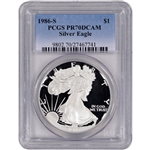 1986-S American Silver Eagle Proof - PCGS PR70DCAM