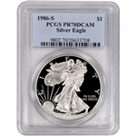 1986-S American Silver Eagle Proof - PCGS PR70 DCAM