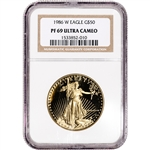 1986 W American Gold Eagle Proof 1 oz $50 NGC PF69 UCAM