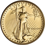 1987 American Gold Eagle 1/4 oz $10 - BU