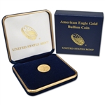 1987 American Gold Eagle 1/10 oz $5 - BU coin in U.S. Mint Gift Box